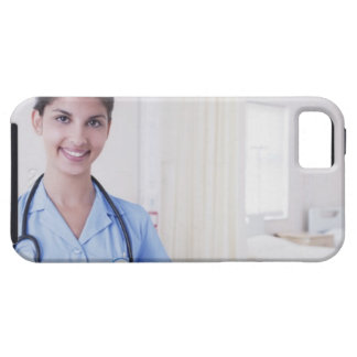 Portrait of nurse in hospital iPhone 5 cover
