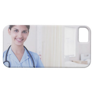 Portrait of nurse in hospital case for the iPhone 5