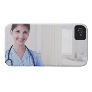 Portrait of nurse in hospital iPhone 4 cover