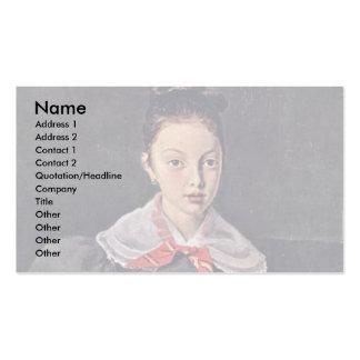 Portrait Of Octavie Sennegon The Artist S Niece L Business Cards