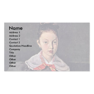 Portrait Of Octavie Sennegon The Artist'S Niece (L Double-Sided Standard Business Cards (Pack Of 100)
