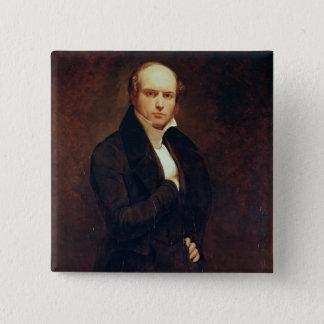 Portrait of Odilon Barrot 15 Cm Square Badge