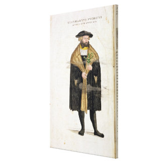 Portrait of of the author age 41, from 'De Histori Canvas Print