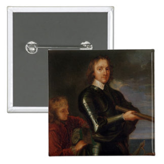 Portrait of Oliver Cromwell Pinback Buttons