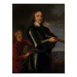 Portrait of Oliver Cromwell Poster