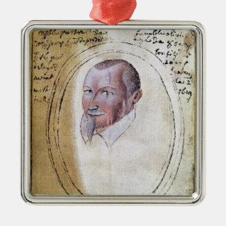 Portrait of Olivier de Serres Christmas Ornament