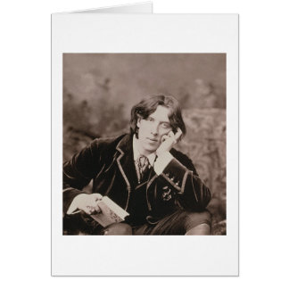 Portrait of Oscar Wilde (1854-1900), 1882 (b/w pho Card