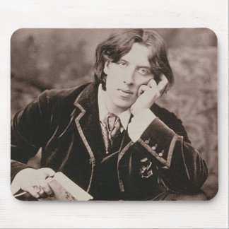 Portrait of Oscar Wilde (1854-1900), 1882 (b/w pho Mouse Pad