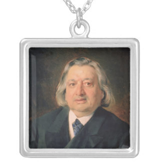 Portrait of Ossip Petrov , 1870 Silver Plated Necklace