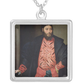 Portrait of Ottavio Grimani Silver Plated Necklace