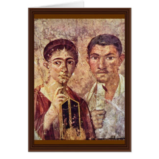 Portrait Of Paquius Proculus And His Wife By Meist Card