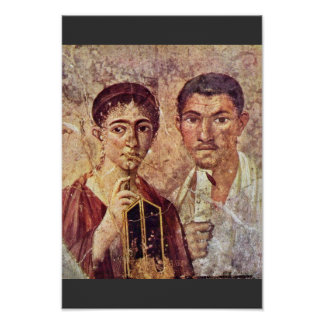 Portrait Of Paquius Proculus And His Wife By Meist Poster