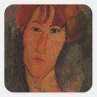 Portrait of Pardy, c.1915 (oil on canvas) Square Sticker