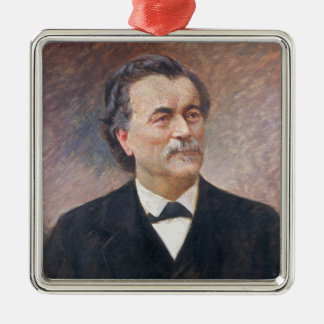 Portrait of Paul Bert Silver-Colored Square Decoration