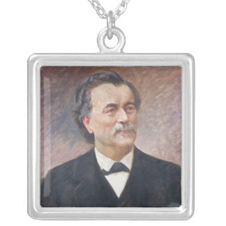 Portrait of Paul Bert Silver Plated Necklace