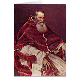 Portrait Of Paul Iii. By Titian Card