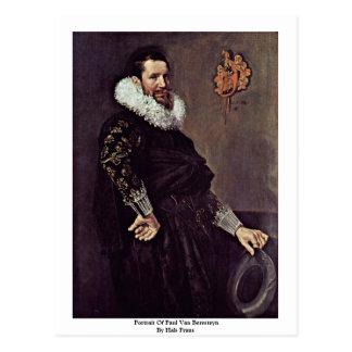 Portrait Of Paul Van Beresteyn By Hals Frans Postcard