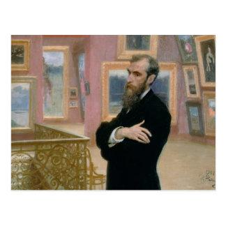 Portrait of Pavel Tretyakov  in the Gallery Postcard