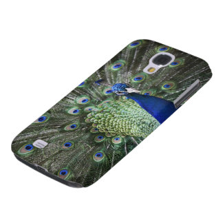 Portrait Of  Peacock With Feathers Out Galaxy S4 Case