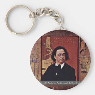 Portrait Of Pembauer Pianist JosephBy Klimt Gustav Keychains