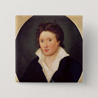 Portrait of Percy Bysshe Shelley, 1819 15 Cm Square Badge