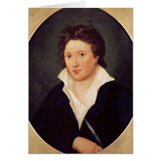 Portrait of Percy Bysshe Shelley, 1819 Greeting Card