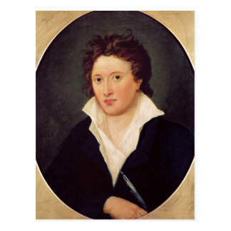 Portrait of Percy Bysshe Shelley, 1819 Postcard