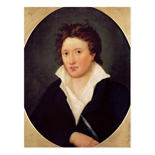 Portrait of Percy Bysshe Shelley, 1819 Postcards