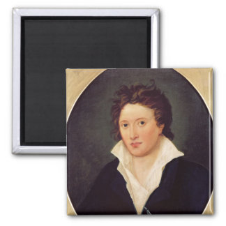 Portrait of Percy Bysshe Shelley, 1819 Square Magnet