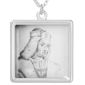 Portrait of Perkin Warbeck Silver Plated Necklace
