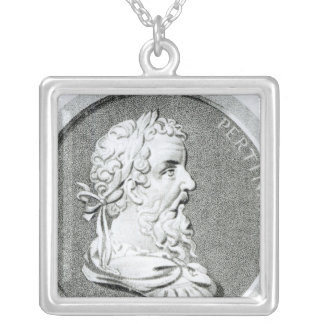 Portrait of Pertinax Silver Plated Necklace