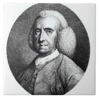 Portrait of Peter Collinson (1694-1768) (engraving Large Square Tile
