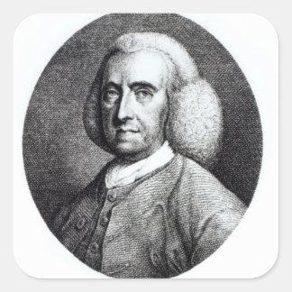 Portrait of Peter Collinson (1694-1768) (engraving Square Sticker