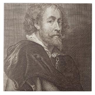 Portrait of Peter Paul Rubens (1577-1640) plate 30 Large Square Tile