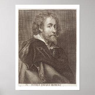 Portrait of Peter Paul Rubens (1577-1640) plate 30 Poster