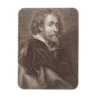 Portrait of Peter Paul Rubens (1577-1640) plate 30 Rectangular Photo Magnet