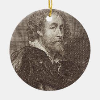 Portrait of Peter Paul Rubens (1577-1640) plate 30 Round Ceramic Decoration