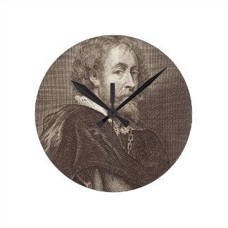 Portrait of Peter Paul Rubens (1577-1640) plate 30 Wall Clock
