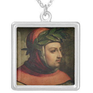 Portrait of Petrarch Silver Plated Necklace