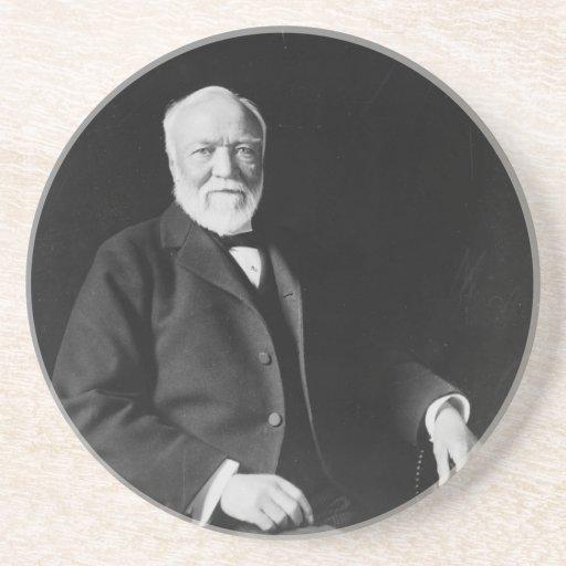 Portrait of Philanthropist Andrew Carnegie Coaster