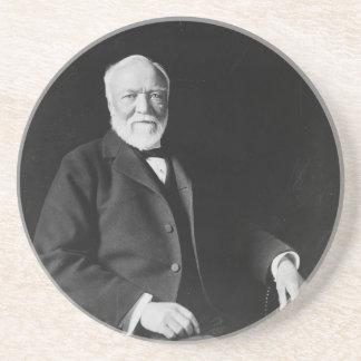 Portrait of Philanthropist Andrew Carnegie Drink Coasters