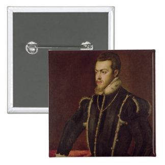 Portrait of Philip II  of Spain Button