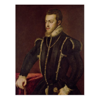 Portrait of Philip II  of Spain Postcard