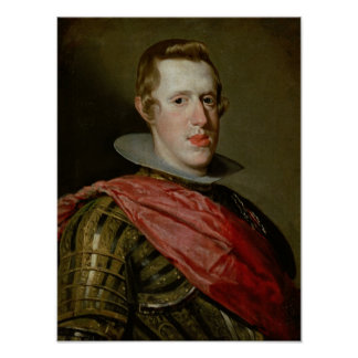 Portrait of Philip IV  in Armour, 1628 Poster