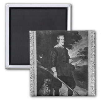 Portrait of Philip IV  King of Spain like a Square Magnet