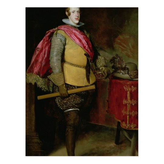 Portrait of Philip IV  of Spain Postcard