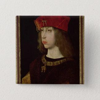 Portrait of Philip the Handsome 15 Cm Square Badge
