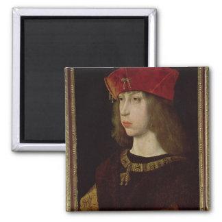 Portrait of Philip the Handsome Square Magnet