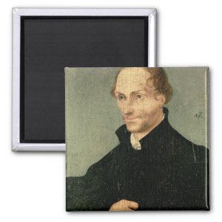 Portrait of Philipp Melanchthon , 1532 Square Magnet