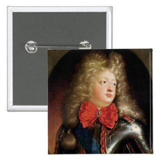 Portrait of Philippe d'Orleans 15 Cm Square Badge